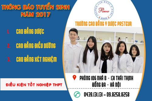 Tuyển sinh Cao đẳng Y Dược Hà Nội năm 2017