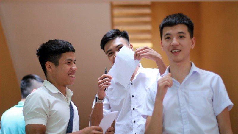 Nhiều thí sinh dự kỳ thi năm nay đều cảm thấy thoải mái với kết quả làm bài thi của mình