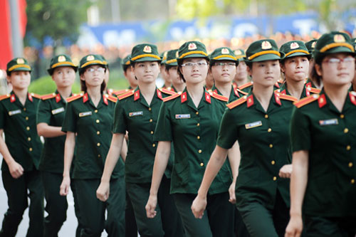Tuyển sinh các ngành quân đội dựa trên điểm thi THPT Quốc gia.