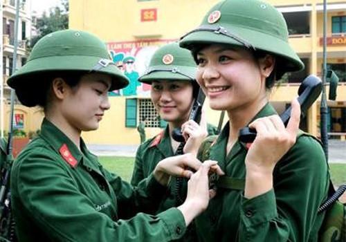 Chỉ 3 trường quân đội tuyển học viên nữ trong năm 2018