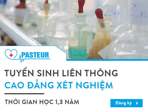 Trường Cao đẳng Y Dược Pasteur thông báo tuyển sinh Liên thông Cao đẳng Xét nghiệm Hà Nội năm 2018