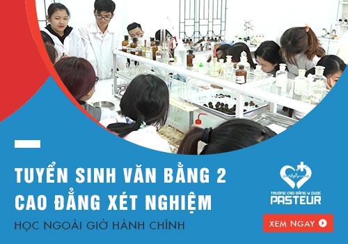 Tuyển sinh Văn bằng 2 Cao đẳng Xét nghiệm Hà Nội năm 2018