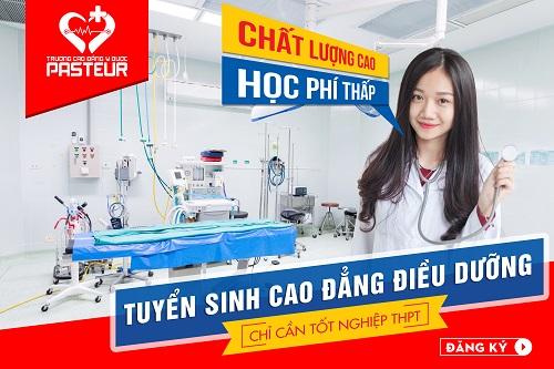 Thông báo tuyển sinh Cao đẳng Điều dưỡng Pasteur Hà Nội trên phạm vi cả nước