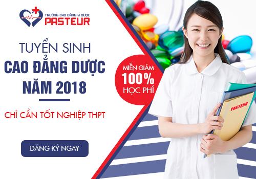 Miễn 100% học phí Cao đẳng Dược năm 2018