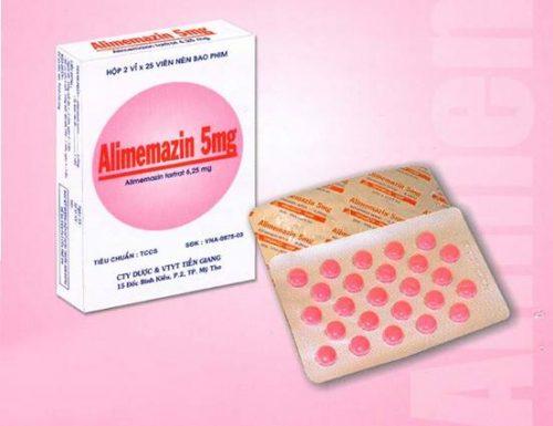 Thuốc Alimemazin quen thuộc với bệnh nhân dị ứng
