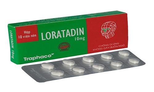 Thuốc chống dị ứng Loratadin 10mg