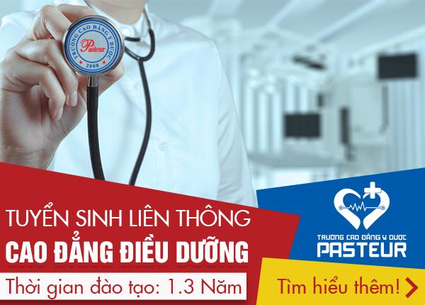 Trường Cao đẳng Y Dược Pasteur tuyển sinh Liên thông Cao đẳng Điều dưỡng