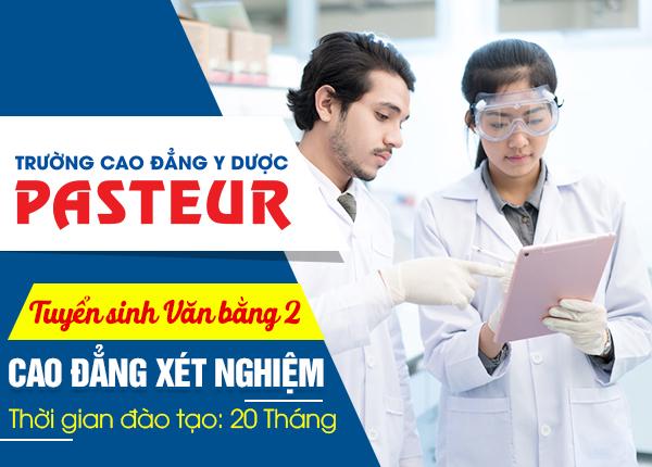 Tuyển sinh văn bằng 2 Cao đẳng Xét nghiệm Pasteur năm 2020